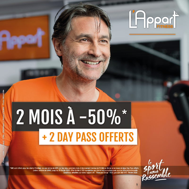 Offre L'appart Fitness Dardilly