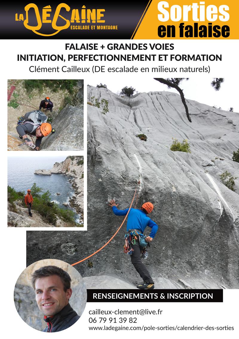 Sorties falaise La Dégaien avec Clément Cailleux
