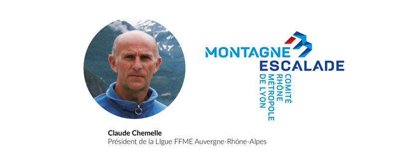 Claude Chemelle Président de la Ligue FFME Auvergne-Rhône-Alpes