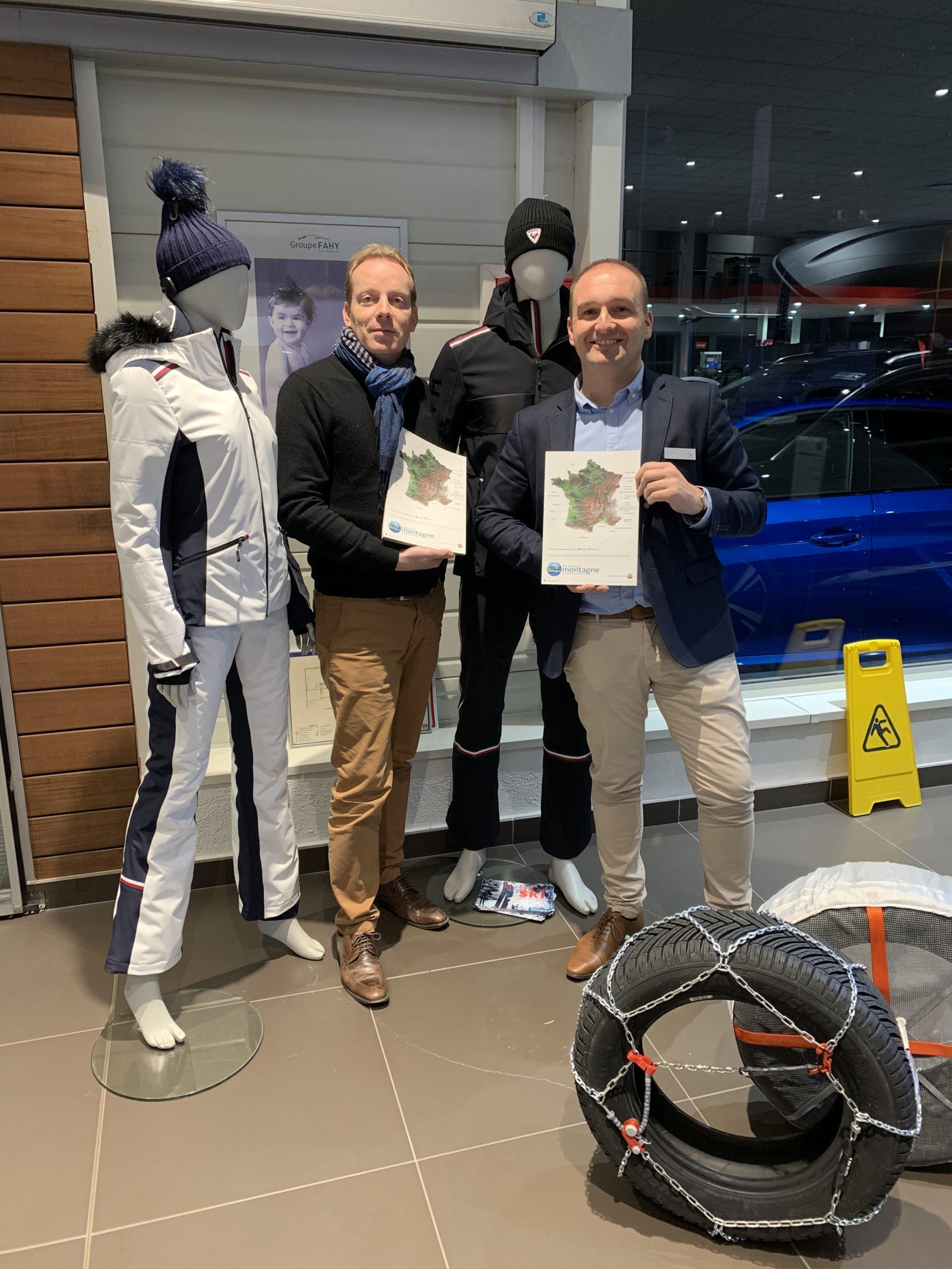 Damien Rey et Franck Desbat Groupe Fahy Peugeot