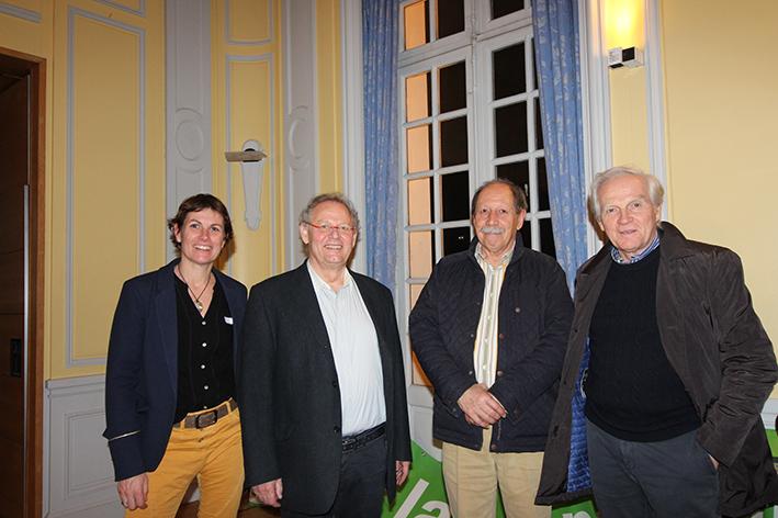 Emmanuelle Thomas, François Uzel, Joel Piegay (Marcy) et Gérald Eymard (Charbonnières)