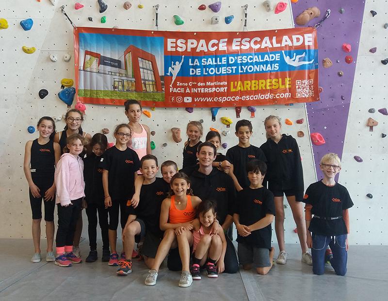 equipe elite jeunes La dégaine à Espace Escalade