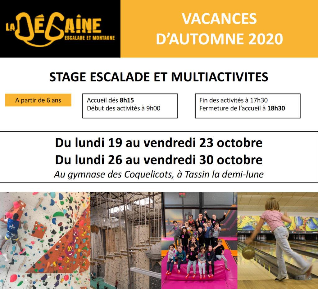 Stage vacances LA DEGAINE automne 2020