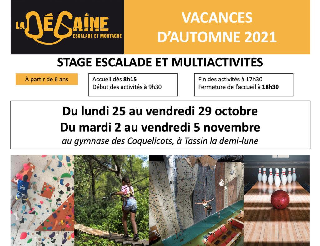 Stage vacances automne 2021 LA DEGAINE