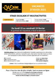 Stage Hiver 2021 LA DEGAINE