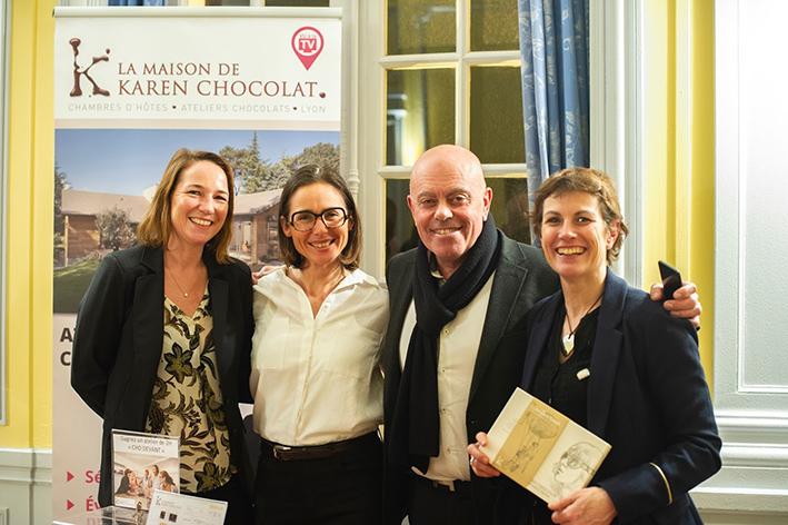 Marie Pascale Sterin, Karen Chocolat, Eric Mazoyer (Limonest) et Emmanuelle Thomas